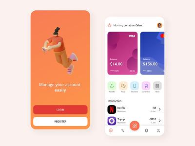 Finance : Bank Mobile App clean design clean ui banking app financial app financial banking fintech finance app finance mobile design mobile app design app mobile ui mobile app app design
