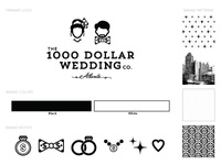 The 1000 Dollar Wedding Branding