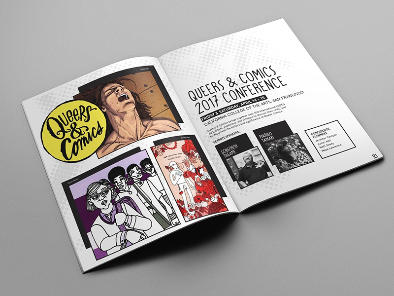 Queers & Comics 2017 Conference Collateral Design schedule brochure book publication event design