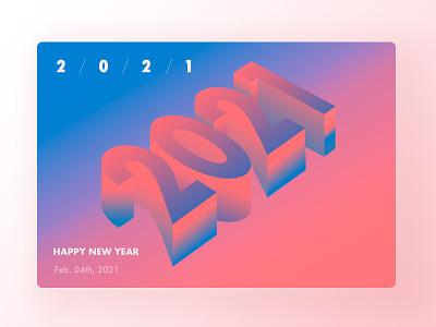 2021 ui card glass gradient 2021 3d