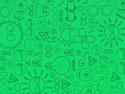 Pattern drawing doodle sticker monster pattern