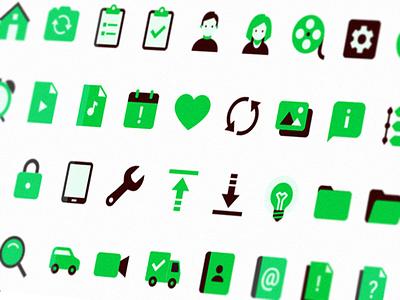 Icon 3colors flat icon