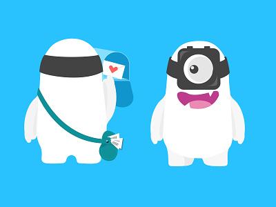 Watch Mascot character figure cartoon illustrator minions monster white mascot watch