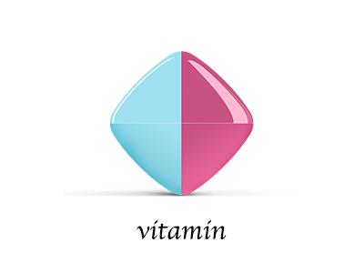 Vitamin logo 3d medicine medical pills pill 3d logo vitamin
