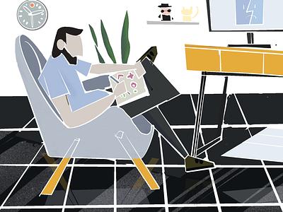 Lifestyle illustration lifestyle abstract illustration procreate ipad