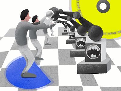 Human & Robot abstract poster procreate human robot