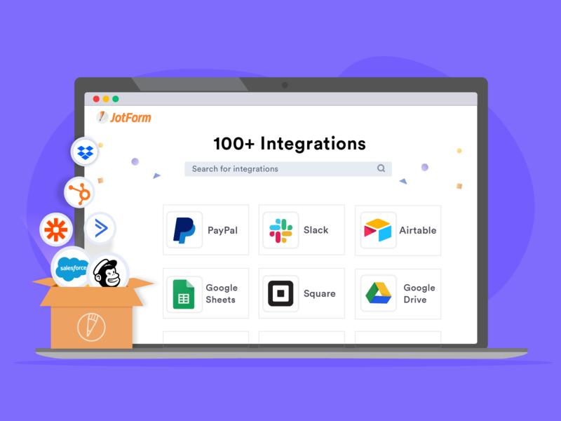 JotForm - 100+ Popular App Integrations