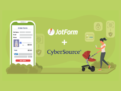 "JotForm - 2019 December Newsletter ""Cybersource"" Banner"