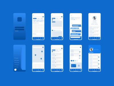 App colour layout color scheme colour graphic design mobile clean flat app vector web ui design website ux typography logo minimal branding