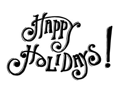 Happy Holidays Lettering By Charlie Murchy