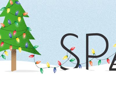 Christmas Lights Logo and Tree