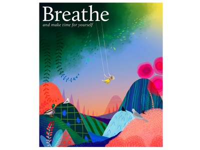 Breathe magazine cover illustration