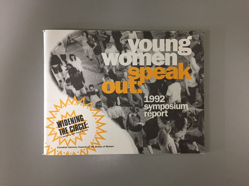 Young Women Speak Out: 1992 Symposium Report typography design