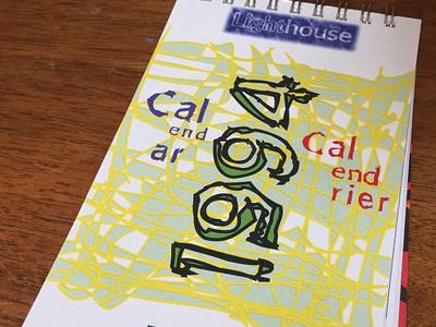 Lighthouse Calendar 1994 illustration logo branding typography design