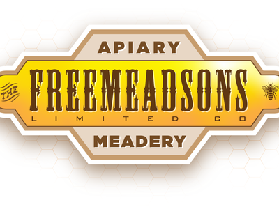 The Freemeadsons Limited, Co. Apiary and Meadery. branding typography logo design