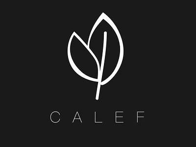 Calef Logo leaf flowers ui black and white calef leaves black  white simple logo minimal branding icon illustration vector logo design