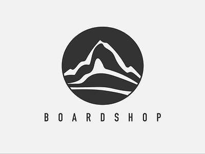 Boardshop Logo brand simple shop ski snowboarding mountain travel logo snowboard vector ui simple logo minimal logo illustration icon design black  white black and white