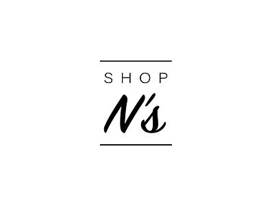 N's shop logo logomania minimalistic logo logodesign. minimalisticdesign designlogo shoplogo blacklogo whitelogo simple logo branding logo brand