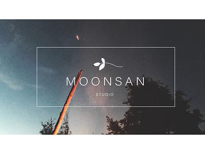 Moonsan logo vector logo minimalism minimalistic logo illustrator graphic design simple icons design icon black and white branding brand logo white logo simple logo logos logo