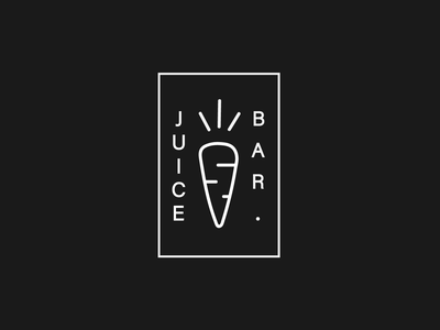 Juice Bar logo black background minimal bar juice juice bar simple vector ui illustration icon logo black and white branding brand minimalistic logo simple logo black logo