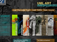 UMass Lowell's Art Dept Website Redesign