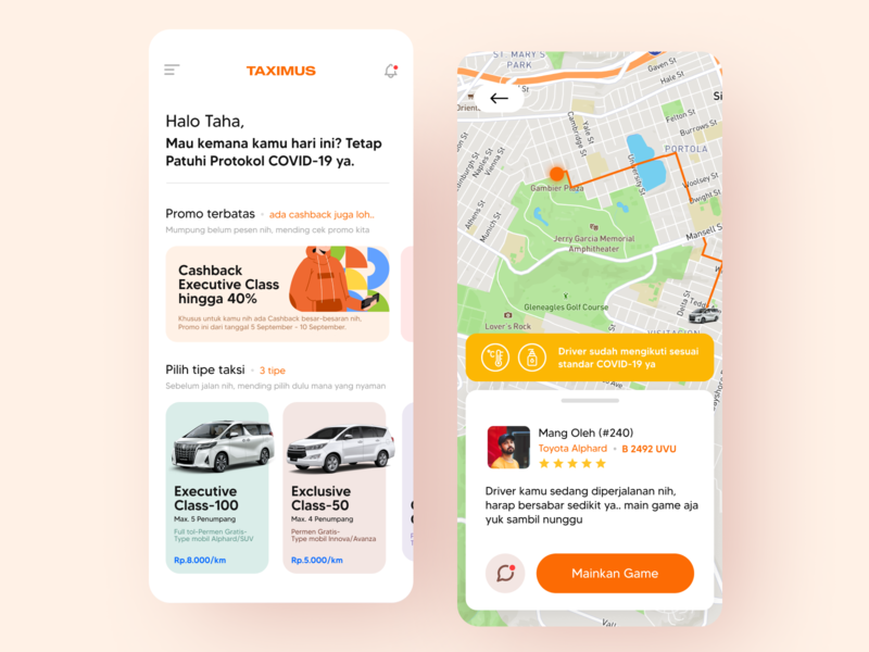 Taximus - Mobile App application ios app uiux mobile figma app design ux ui minimalist flat design simple