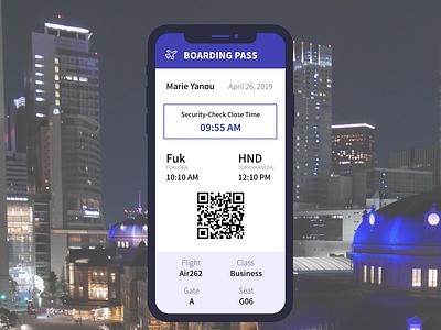 Daily UI  024 Boarding Pass dailyui024 dailyui daily 100