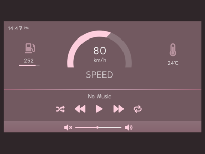 Daily Ui  034 Car Interface