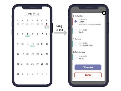 Dailyui038 uidesign smartphone calendar dailyui038 ui affinitydesigner daily 100 dailyui
