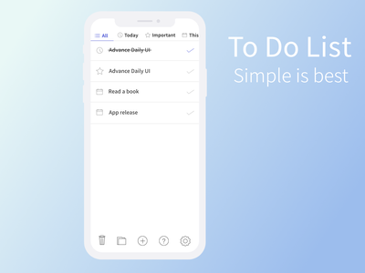 Daily UI  042 to do list icon uidesign affinitydesigner daily 100 dailyui