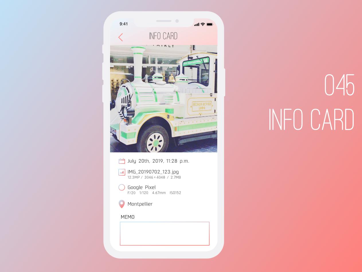Daily UI 045 Info Card affinitydesigner daily 100 dailyui