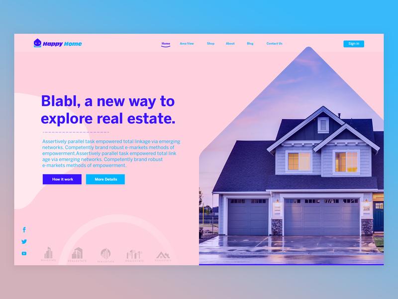 Home Rent Concept Design logo minimal 404 hello dribble hello ux ui website sandeep-mandloi sandeep landing illustration mandloi web branding icon app