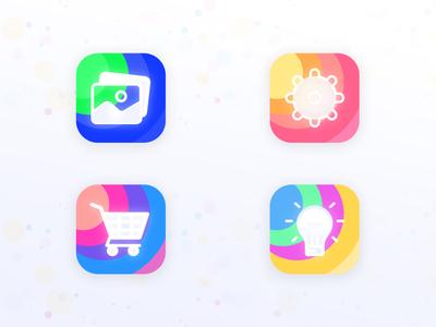 Color Full Icons Design | monogram | geometric