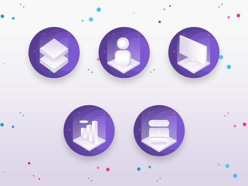 Isometric Illustration | Isometric Icons mandloi sandeep branding minimal illustration illustrator ux ui web logo icon isometric icons isometric isometric illustration