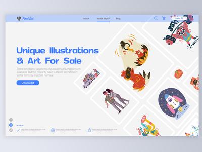 Pixel Dot Website Illustration