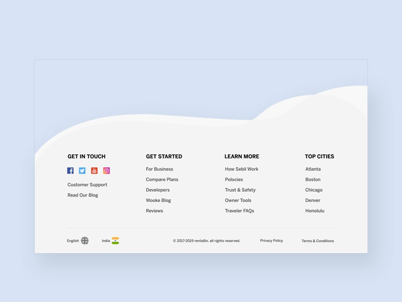Footer Design landing website minimal illustrator illustration icon app ui web footer design foot footer