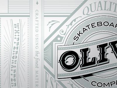 The Whippersnapper olive skateboard design