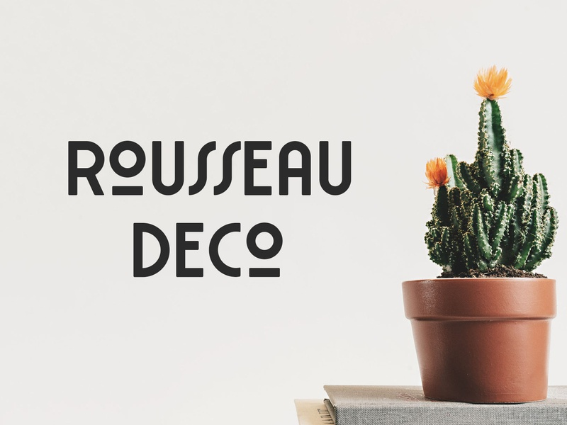 Rousseau Deco Free Font clothing poster designs logo greeting cards design business cards packaging logos clothes posters letters fashions typography typeface quotes invitations branding free typeface free font font