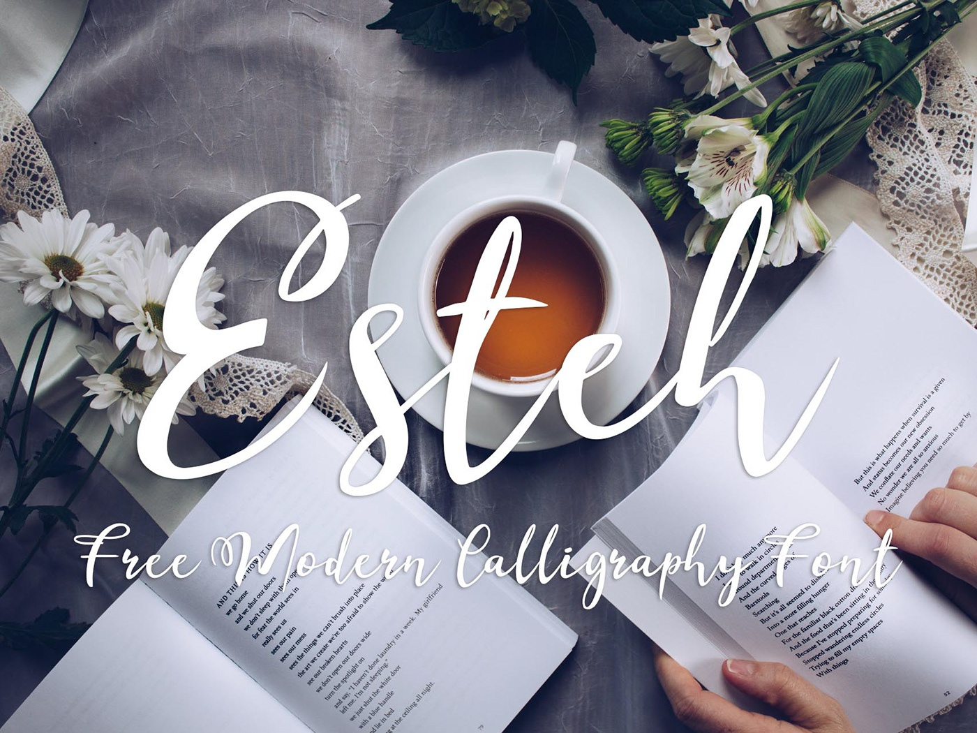 Esteh - Free Modern Calligraphy Font fashions greeting cards freebie freebies posters clothes clothing logos logo letters design business cards quotes invitations typography typeface branding free typeface free font font