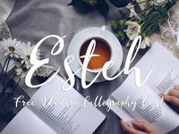 Esteh - Free Modern Calligraphy Font
