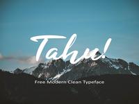 Tahu! - Free Modern Clean Typeface