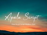 Apalu - Free Brush Script Modern Font