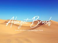 Abuget Brush - Free Modern Handwritten Font