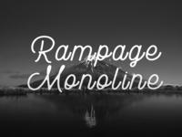 Rampage - Free Vintage Monoline Font