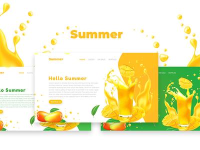 Free Summer Web Ui Design Template