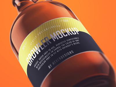 Free Growler Bottle Mockup Psd