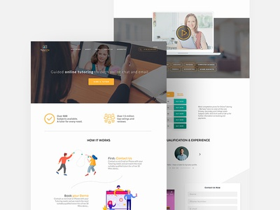 Education Landing Page Template (Adobe Xd)