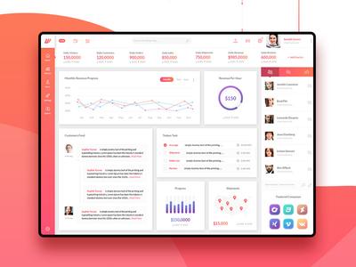 Wofsus - Free Dashboard UI Psd Template