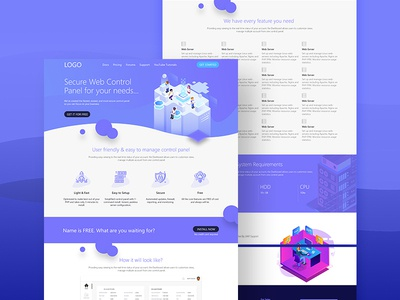 Free Hosting Service Web Template