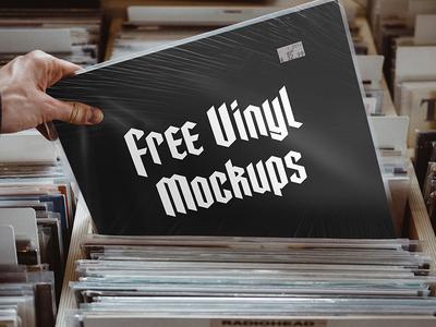Free Realistic Vinyl Cover Mockup